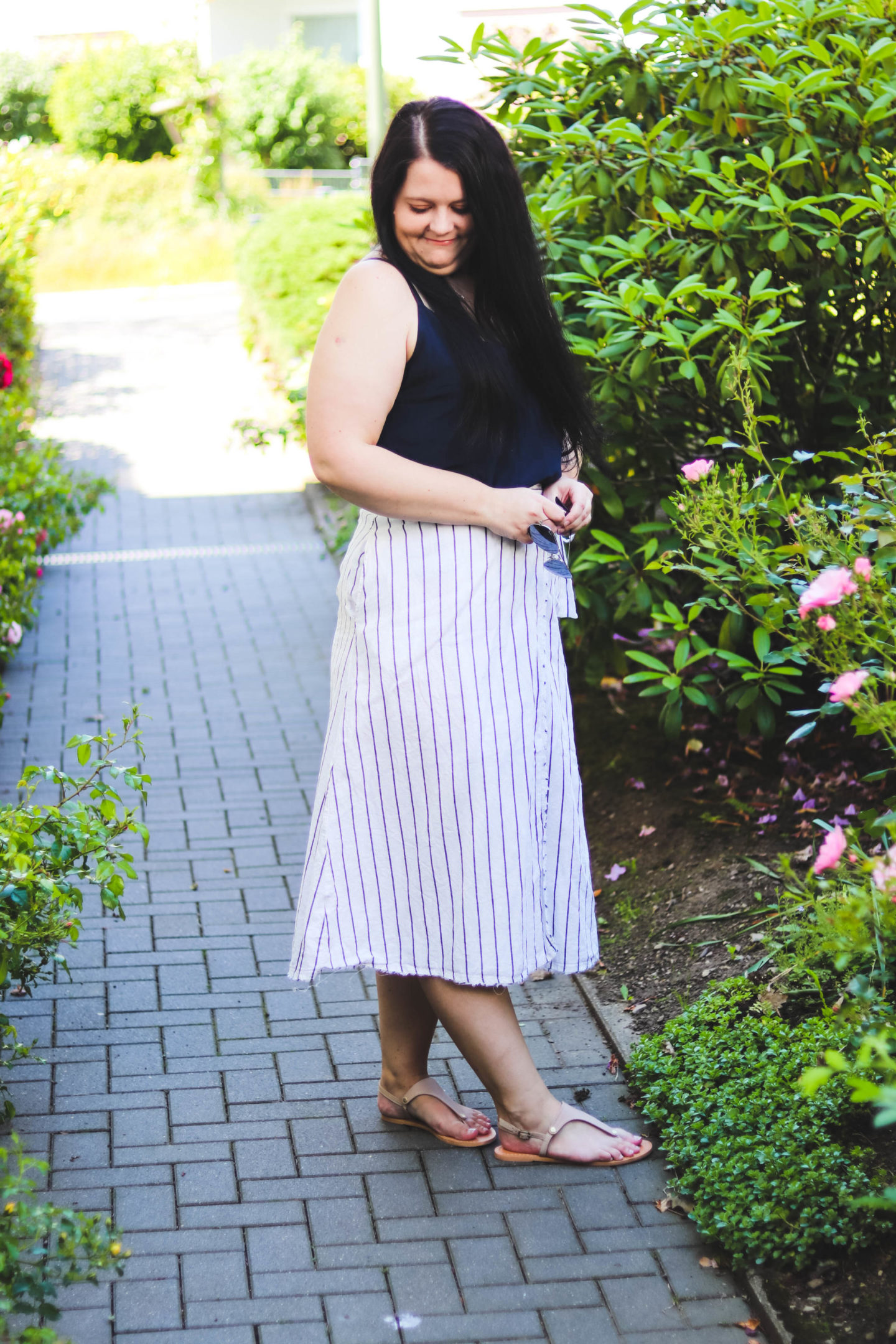 (Outfit) Leinenrock mit Camisole