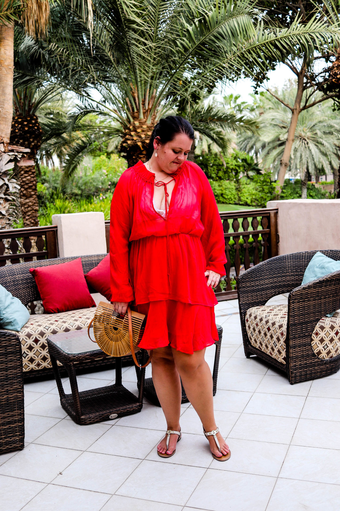 (Outfit) Rotes NA-KD Kleid