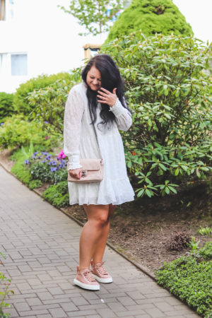Chloé Lace Sneaker with a Dress (Outfit)